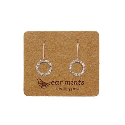 mints earrings 'cubic open circle hook' rose gold