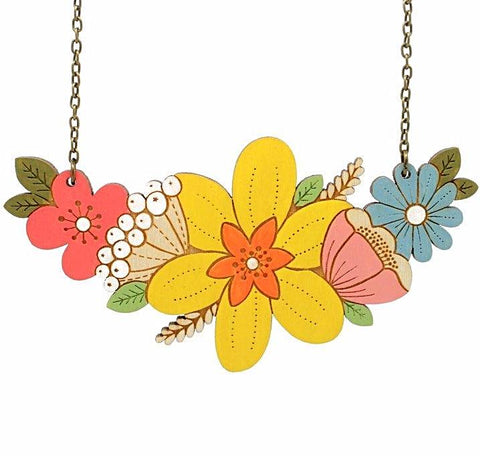 LAYLA AMBER 'DAFFODIL BOUQUET' NECKLACE