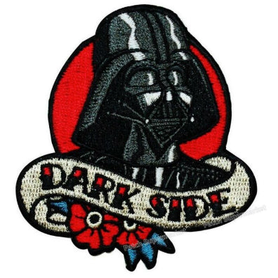 embroidered patch 'dark side' - the-tangerine-fox
