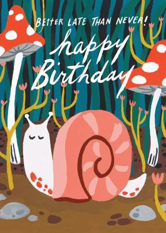 idlewild co. greeting card 'belated snail'