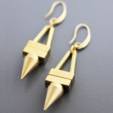 david aubrey earrings 'french hook with brass spike'