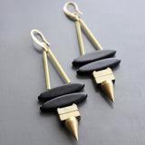 david aubrey earrings 'double spike magnesite' - the-tangerine-fox