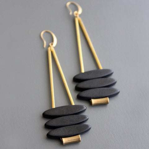 david aubrey earrings 'triple magnesite stack'