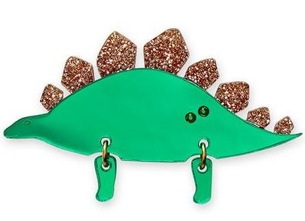 little moose brooch 'jurassica stegosaurus'