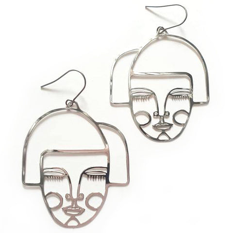 denz & co. earrings 'alice dangles' silver