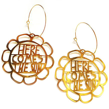 denz & co. earrings 'here comes the sun dangles' gold