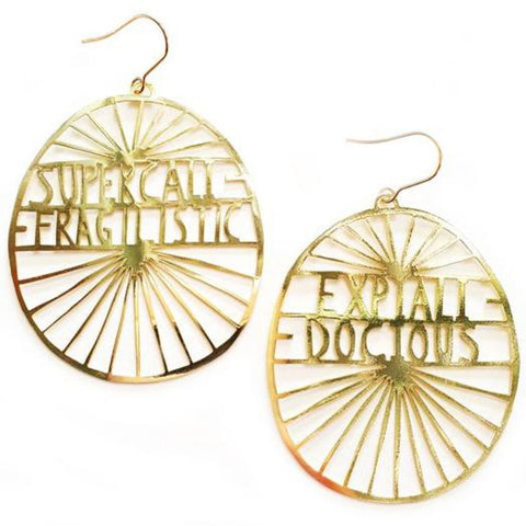 denz & co. earrings 'supercalifragalisticexpialidocious dangles' gold