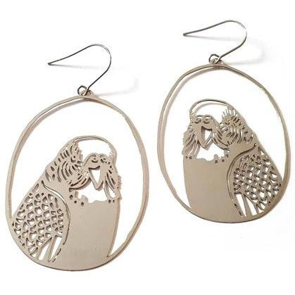 denz & co. earrings 'budgie dangles' silver