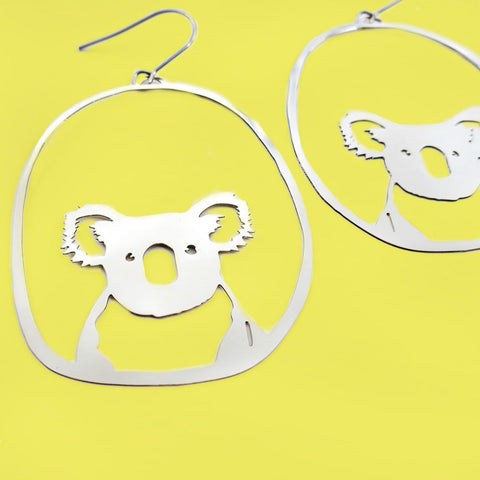 denz & co. earrings 'koala dangles' silver