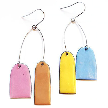 denz & co. earrings 'mobile arch dangles' summer
