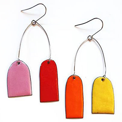 denz & co. earrings 'mobile arch' sunset - the-tangerine-fox