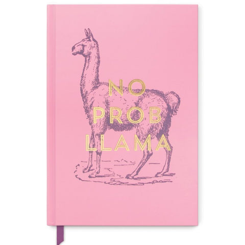 designworks ink. notebook vintage sass 'no prob llama' medium