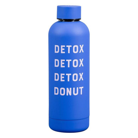 yes studio water bottle 'detox detox detox donut'