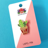 jubly-umph enamel pin 'don't be a prick' - the-tangerine-fox