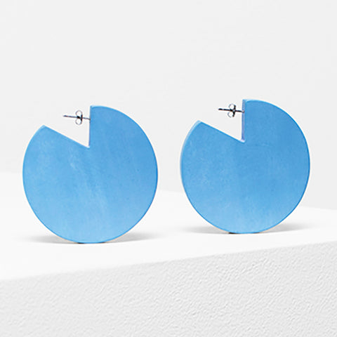 elk earrings 'dorf cut out' preppy blue
