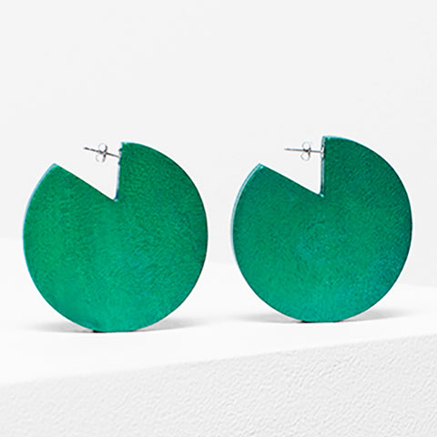 elk earrings 'dorf cut out' grass green
