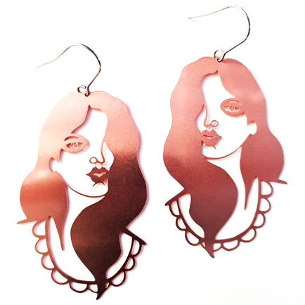 denz & co earrings 'wirebabes dorothy' rose gold