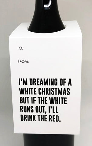 tagged australia wine tag / card 'dreaming of a white christmas...' - the-tangerine-fox