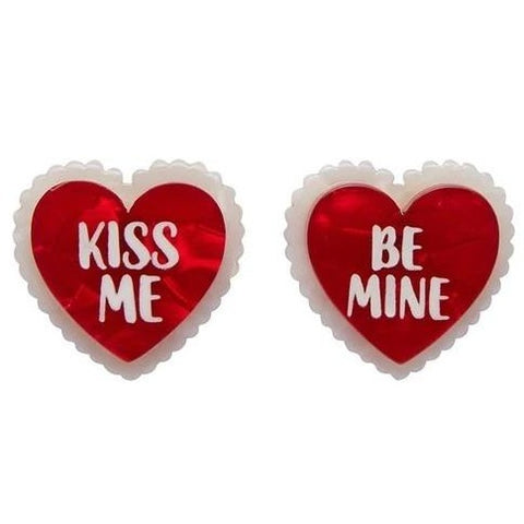erstwilder earrings 'be mine, valentine'