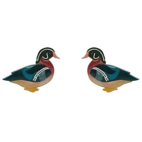 erstwilder earrings 'mallard ballard studs'