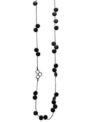 elk necklace 'disc bead station' black