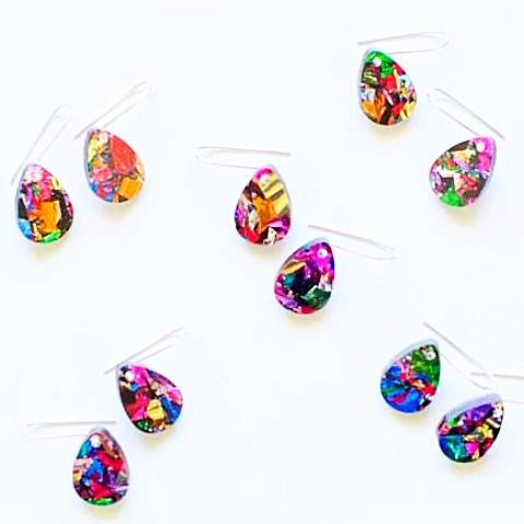 each to own earrings 'baby drop' fireworks