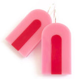 each to own earrings 'fun haus slide drops' lolly & pink