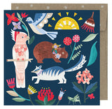earth greetings mini card 'wild natives'