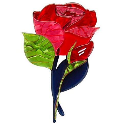 erstwilder brooch 'budding romance rose'