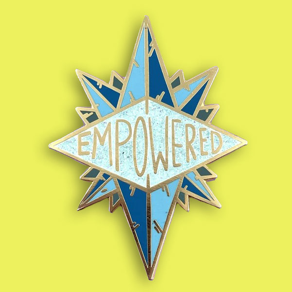 jubly-umph enamel pin 'empowered'