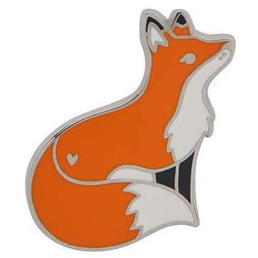 erstwilder enamel pin 'furtive fox'