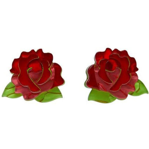 erstwilder earrings 'juliet booms rose'