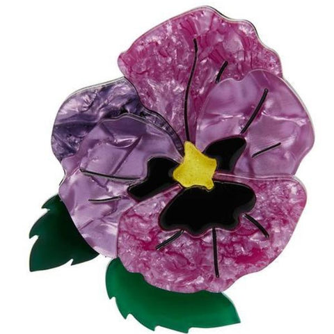 erstwilder brooch 'on sleeping eyelids pansy'