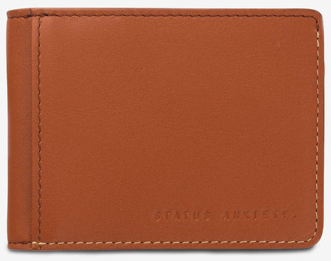 status anxiety men's wallet 'ethan' camel