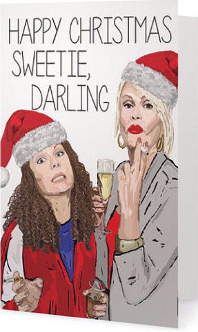 EX-GIRLFRIENDS REBELLION 'AB FAB CHRISTMAS' GREETING CARD