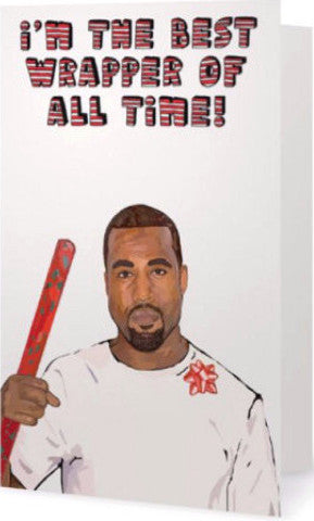 ex-girlfriends rebellion greeting card 'kanye wrapper christmas'