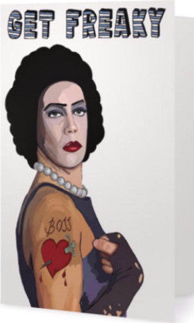 EX-GIRLFRIENDS REBELLION 'ROCKY HORROR' GREETING CARD