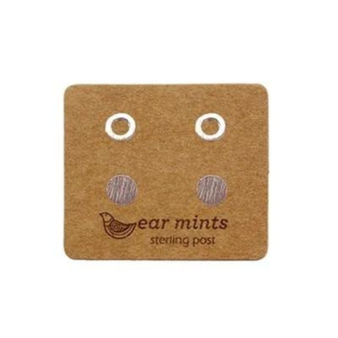 mints earrings 'flat mini circle set of 2' silver