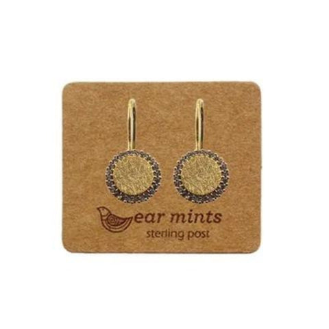 mints earrings 'circle with cubic frame hooks' gold