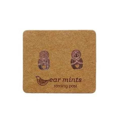 mints earrings 'russian dolls' rose gold