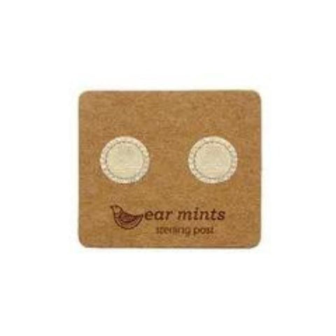 mints earrings 'cubic border circle discs' gold