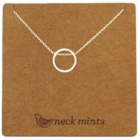 mints necklace 'thread through circle' silver