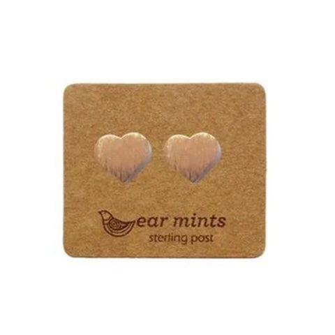mints earrings 'brushed hearts' rose gold
