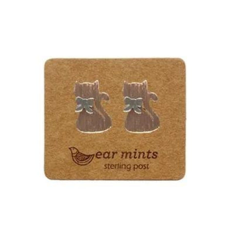 mints earrings '2 tone cat' rose gold