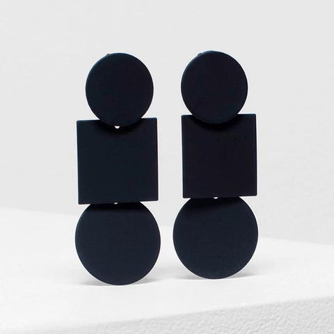 elk earrings 'fala drop' black