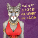 la la land greeting card 'cougar'