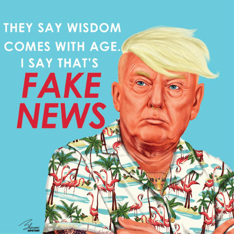la la land greeting card 'fake news'