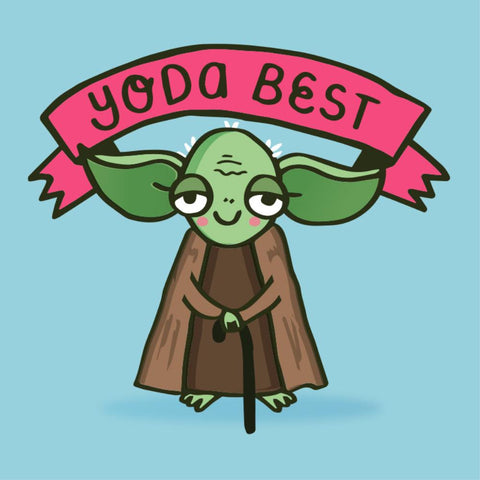 la la land greeting card 'yoda best'