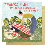 la la land greeting card 'picnic mum'