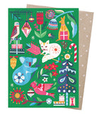 earth greetings christmas card 'festive woodland'